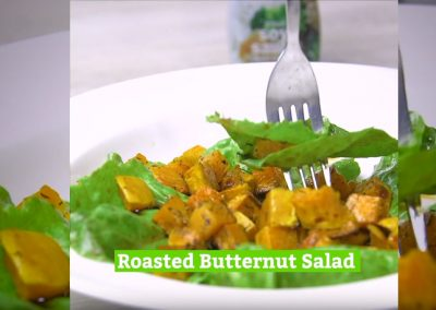 Roasted Butternut Salad with a Soy and Balsamic Dressing