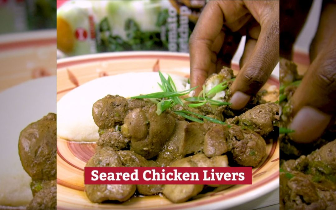 Seared Chicken Livers
